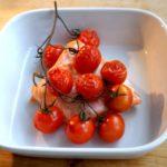 Pieczone łosoś z pomidorami