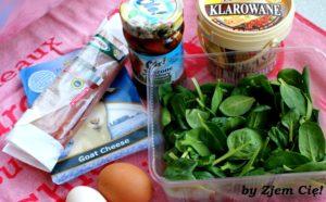 Omlet z kozim serem - skłądniki