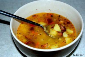 Zupa grochowa z soczewicy