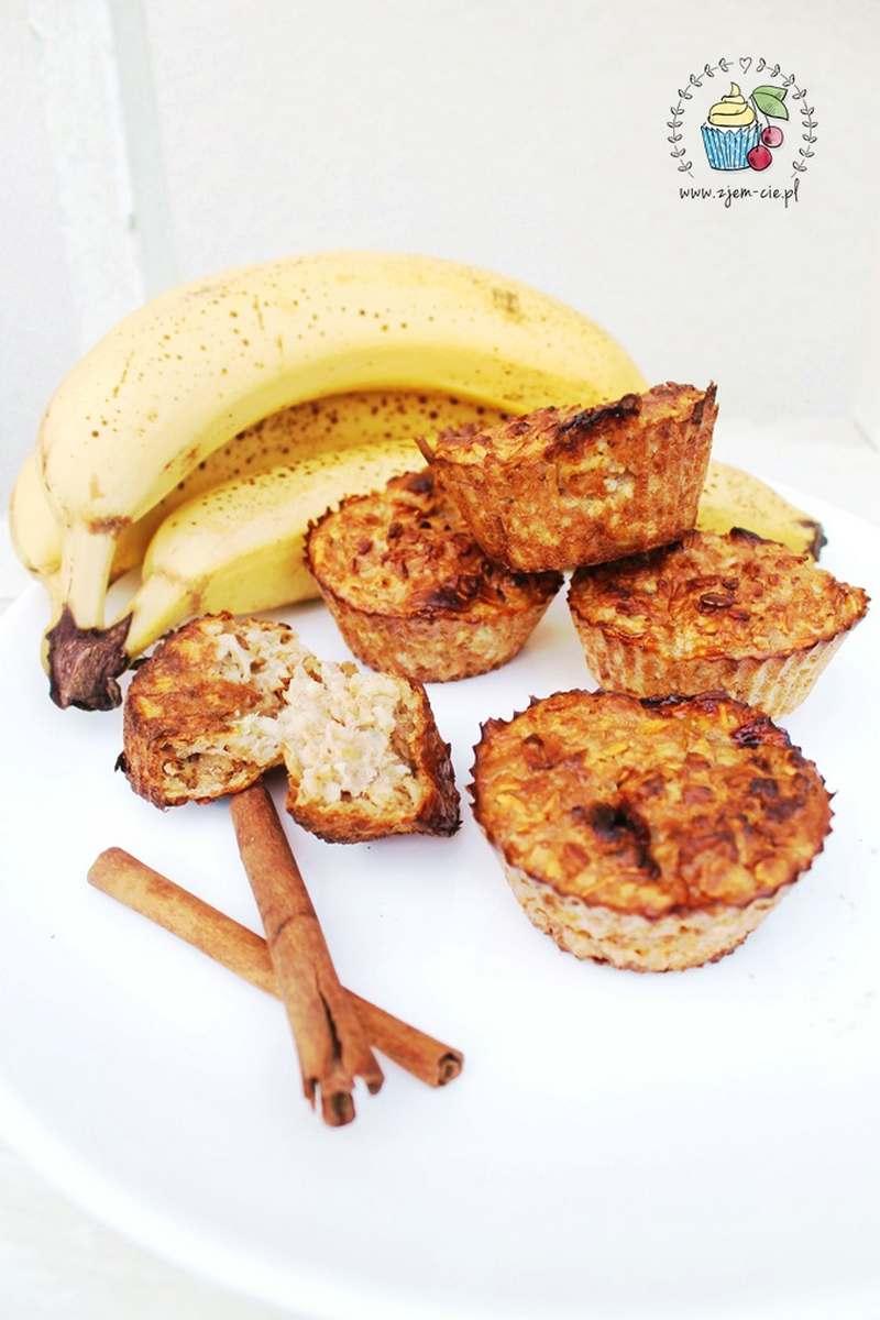 Pieczona owsianka z bananami